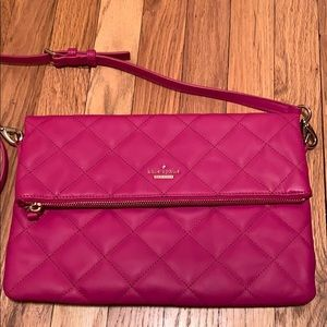 Kate Spade Quilted Hot Pink Magenta Purse